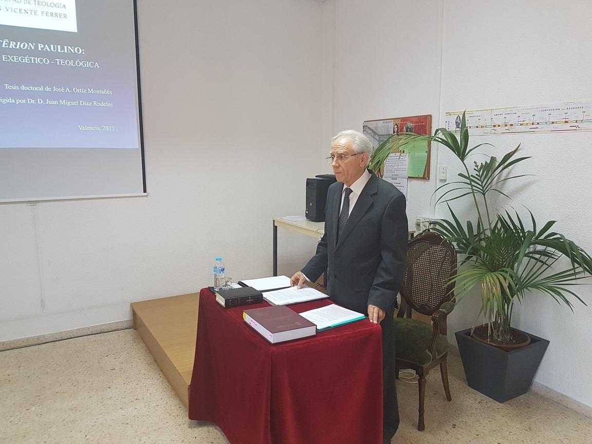 Tesis Doctoral sobre el Hilasterion Paulino en la Facultad de Teología San Vicente Ferrer