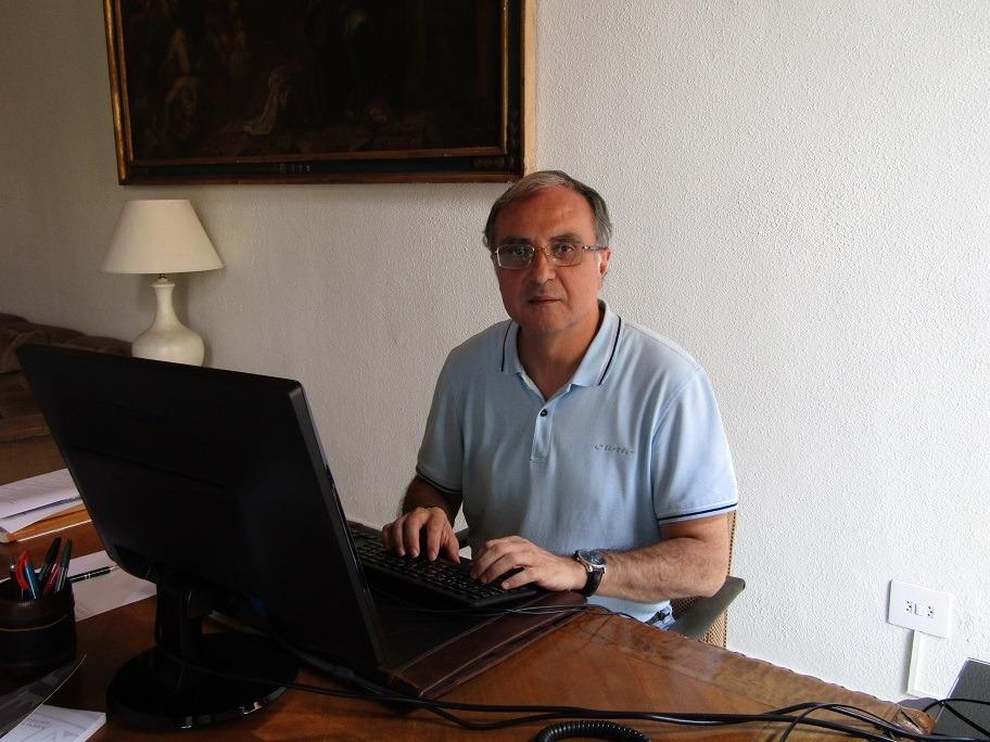 Vicente Botella, en un momento de la entrevista