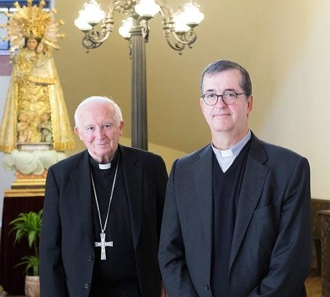 Monseñor Santiago de Wit y Antonio Cañizares