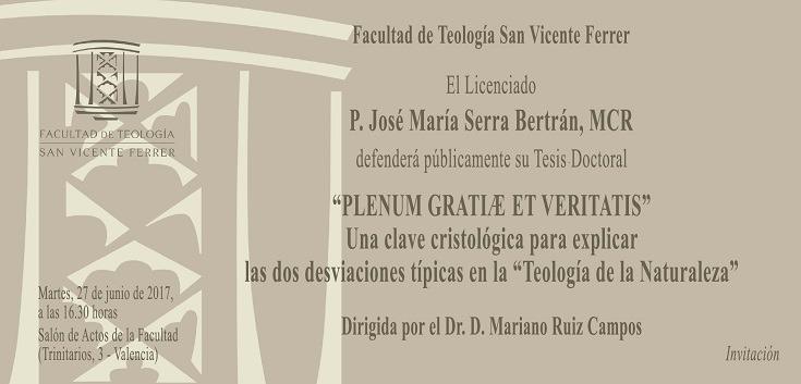 Defensa de tesis doctoral de José María Serra