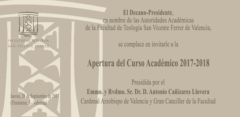 Apertura del Curso en la Facultad de Teología de Valencia