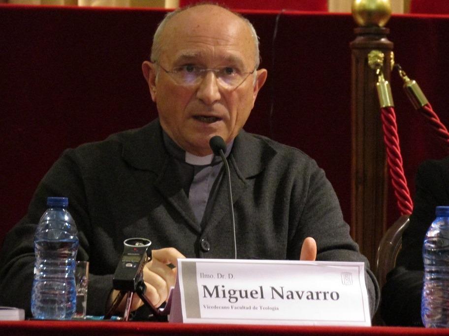Miguel Navarro Sorní en la Facultad de Teología