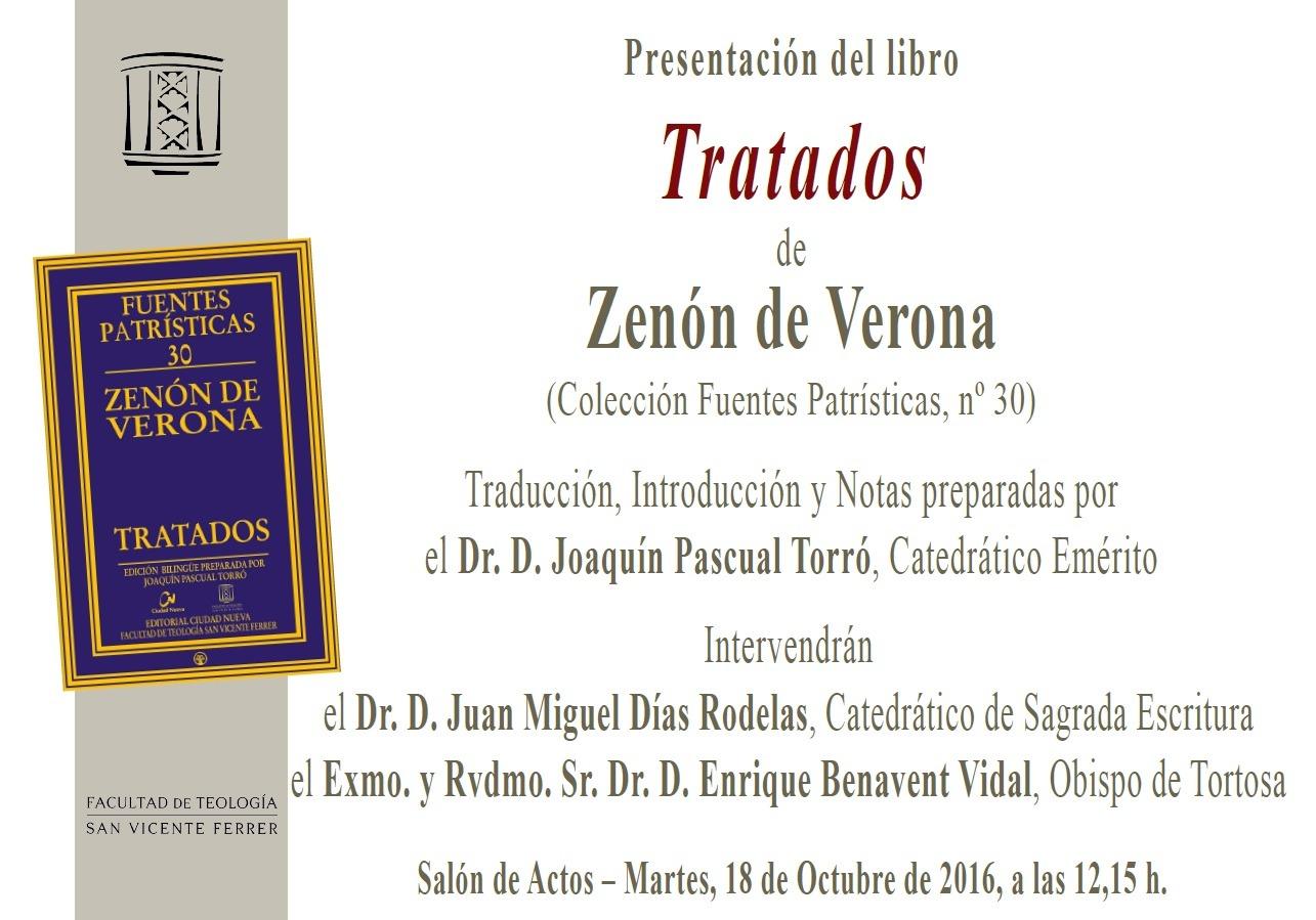 Cartel de presentación del libro sobre Zenón de Verona